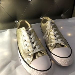 Gold Metallic Converse